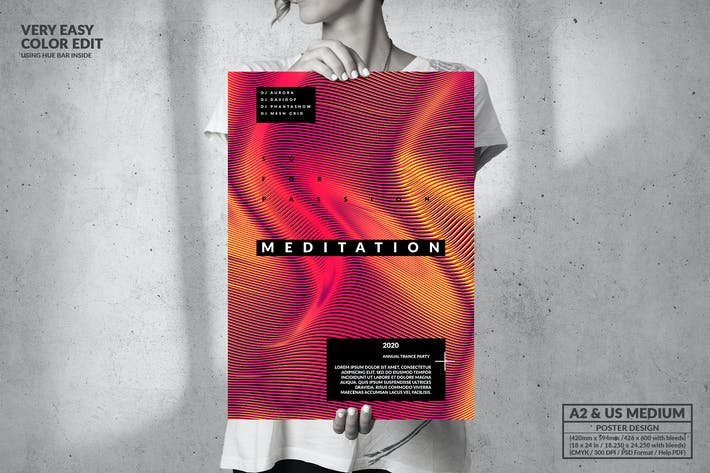 Thumbnail for Meditation Music - Big Poster Design