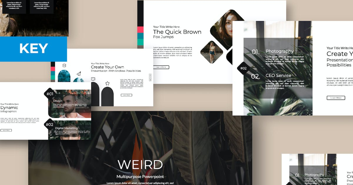 Download Weird Keynote Template by templatehere