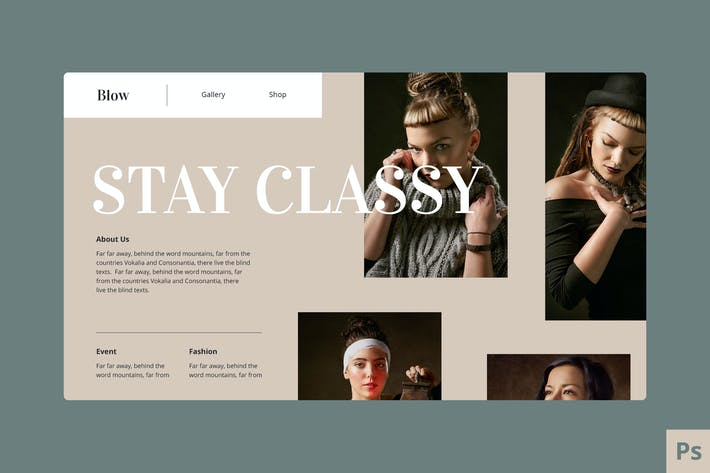 Thumbnail for Fashion Website Hero Template