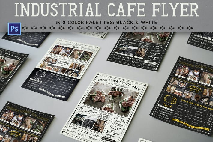 Industrial Cafe Flyer