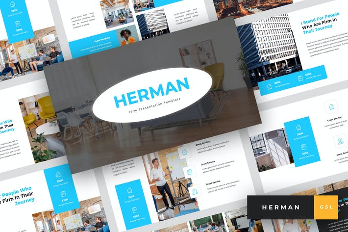 Thumbnail for Herman - Firm Google Slides Template