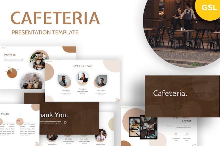Thumbnail for Cafetaria - Ресторан Google Слайды Шаблон