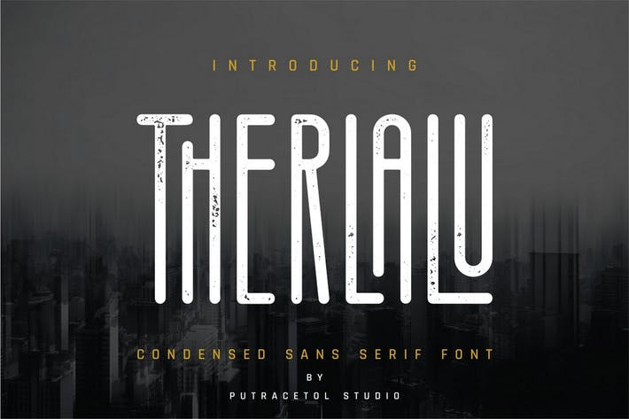 Thumbnail for Therlalu - Condensed Sans Serif Font