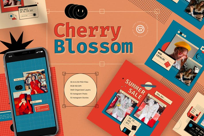 Cherry Blossom Instagram Kit