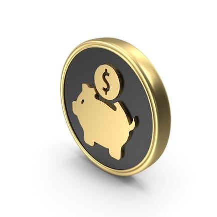 Money Bank Saving Coin Logo