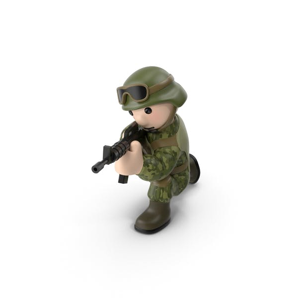 Soldier Shooting from Knee