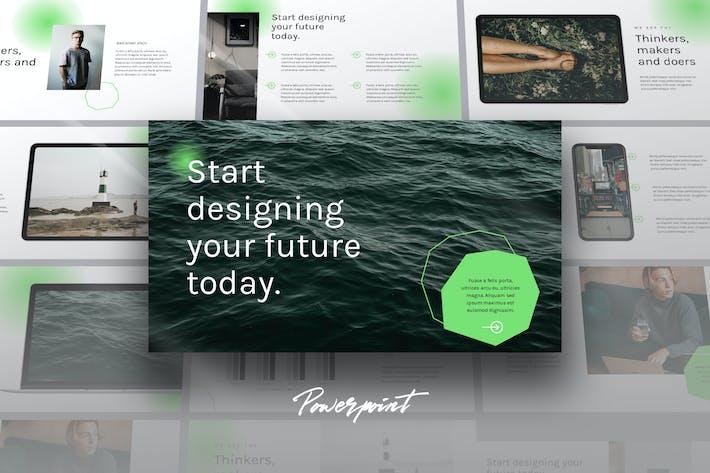 Thumbnail for AISTRA - простой Tech бизнес Powerpoint Шаблон