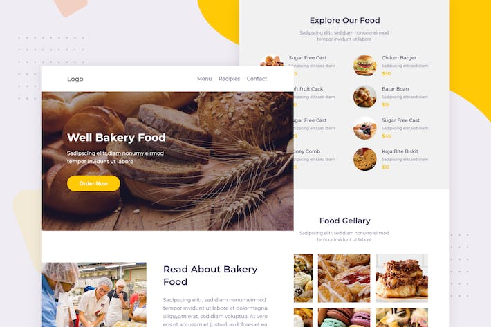 Thumbnail for Bakery - Email Newsletter