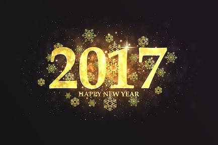 Set of Happy New Year backgrounds