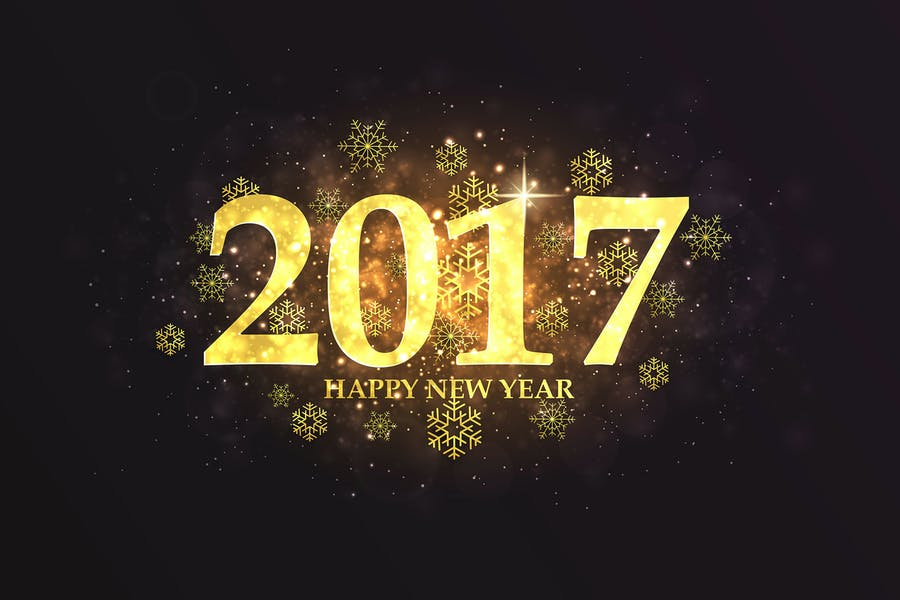 Set of Happy New Year backgrounds - product preview 0