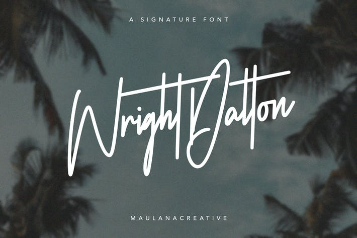 Thumbnail for Wright Dalton Signature Script - Fuente de caligrafía