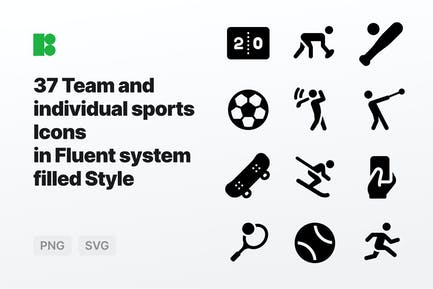 Fluent system filled - Team and individual sports