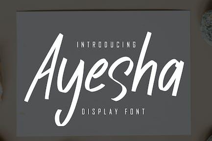 Ayesha Display Font