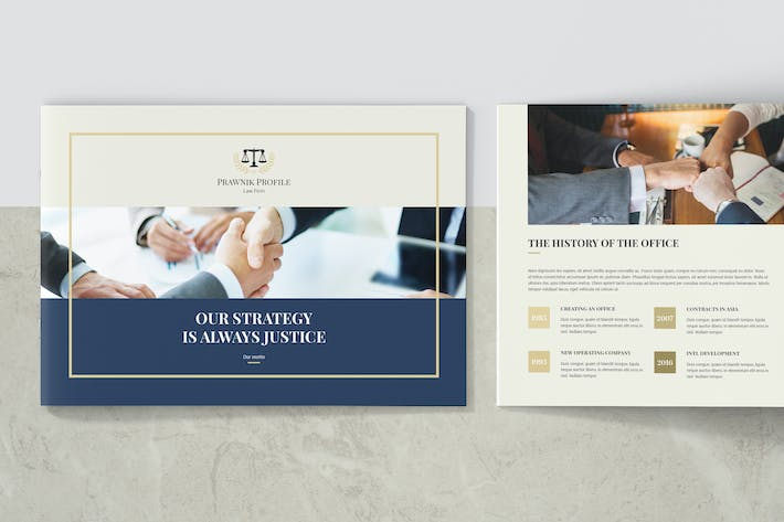 Thumbnail for Prawnik – Law Firm Company Profile Landscape