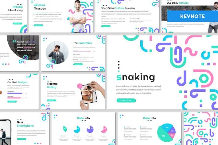 Змея — Шаблон Keynote Creative