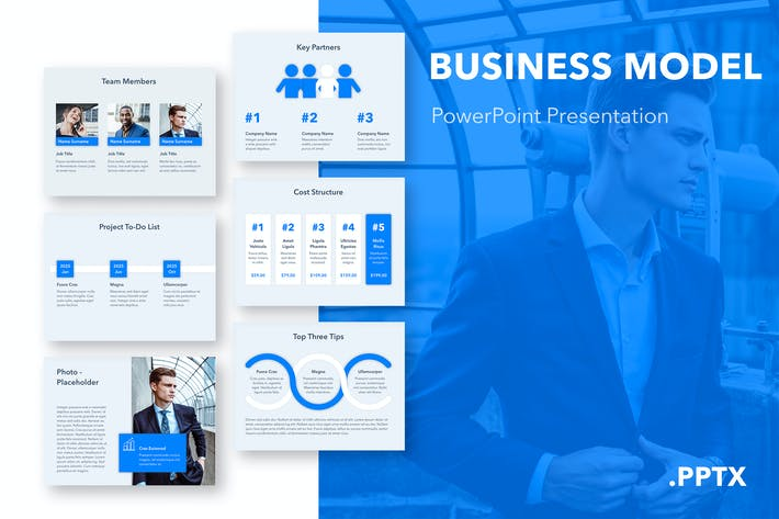 Thumbnail for Business Model PowerPoint Template