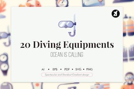 20 Elementos de equipo de buceo