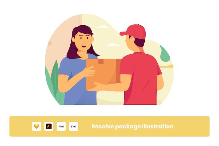 Thumbnail for Erhalten Sie Paket von Online Shop Illustration