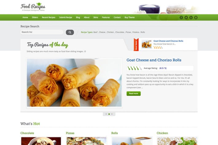 Cover Image For Food Recipes - Food Website and Blog Template