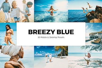 20 Breezy Blue Lightroom Presets & LUTs