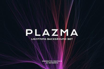 Plasma Lightning Hintergrund Set