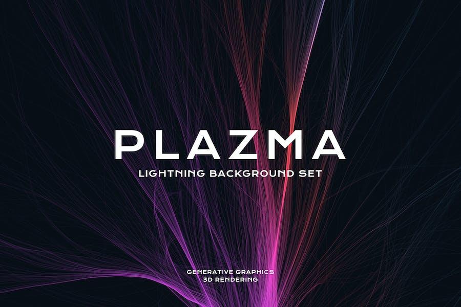 Plasma Lightning Background Set