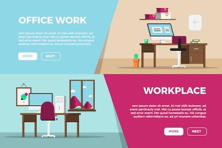 Creative Office Banner Set