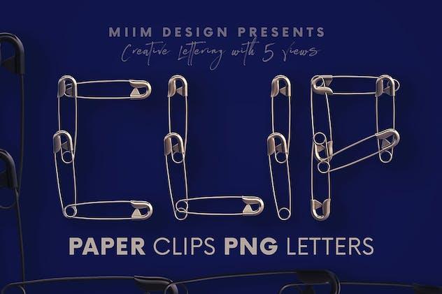 Paper Clips - 3D Lettering