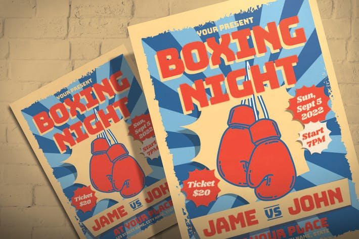 Thumbnail for Boxing Night - Flyer Template