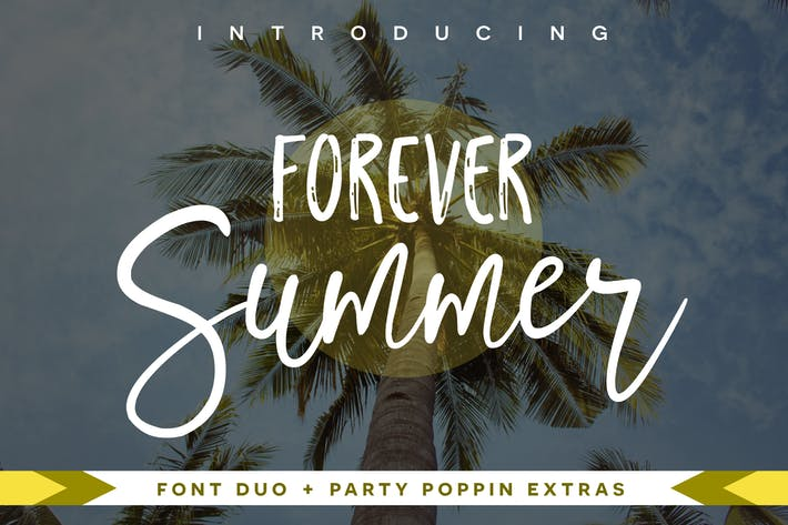 Thumbnail for Forever Summer Font Duo Negro