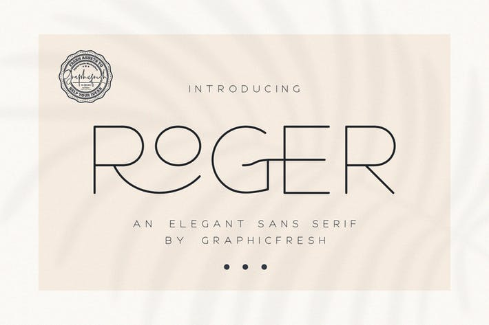 Thumbnail for Roger - An Elegant Sans Serif