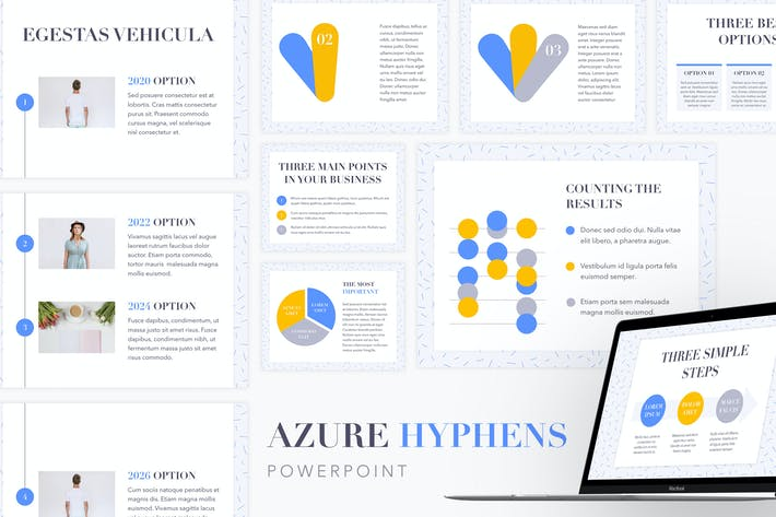 Thumbnail for Azure Hyphens PowerPoint Template