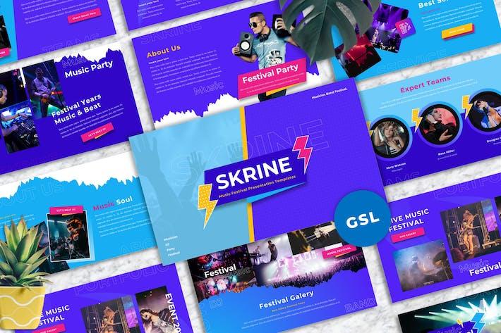 Thumbnail for Skrine - Music Festival Googleslide Templates