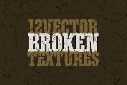 Vector Broken Textures x12