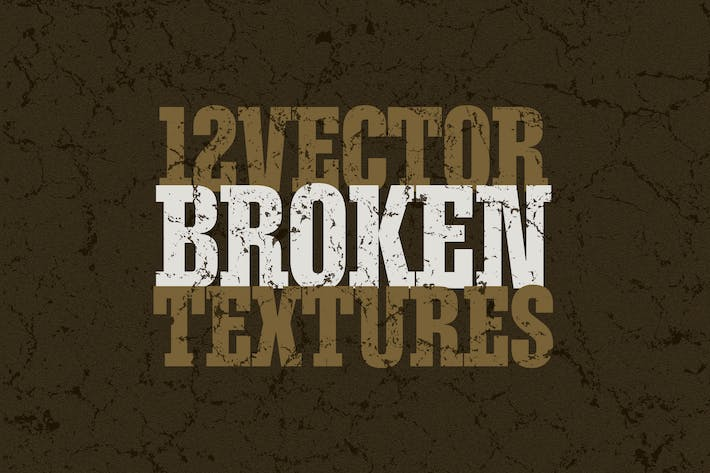 Thumbnail for Vector Broken Textures x12