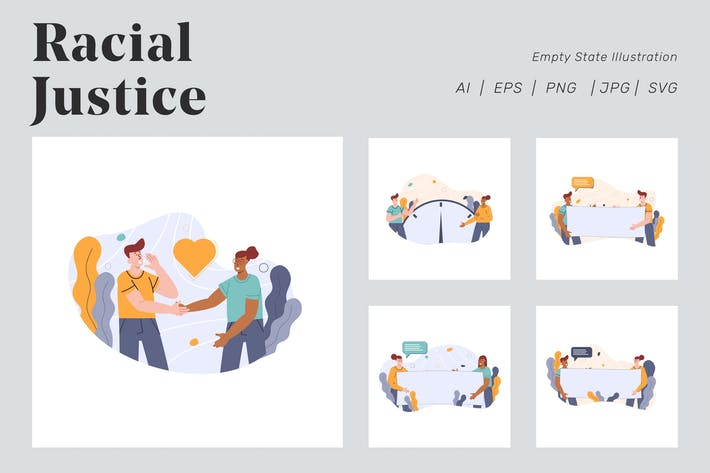 Thumbnail for Racial Justice Illustration for Empty state