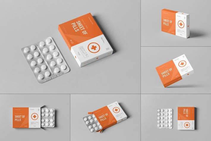 Pills Box Mock-up 2