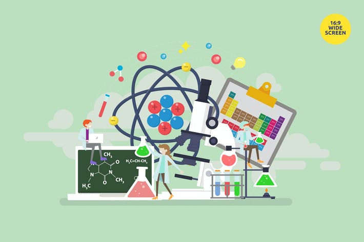 Thumbnail for Chemical Science Vector Illustration Concept