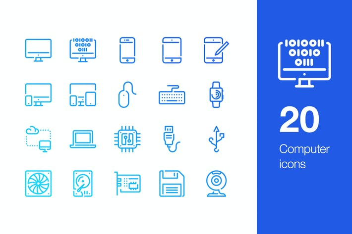 Thumbnail for 20 Computer icons