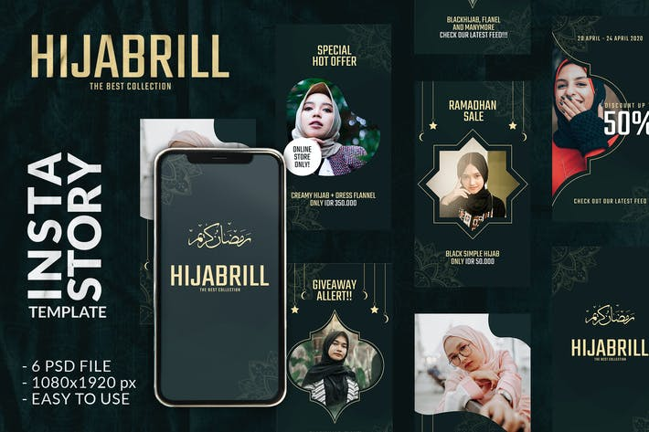 Thumbnail for Hijabrill Ramadhan Instagram Story Template