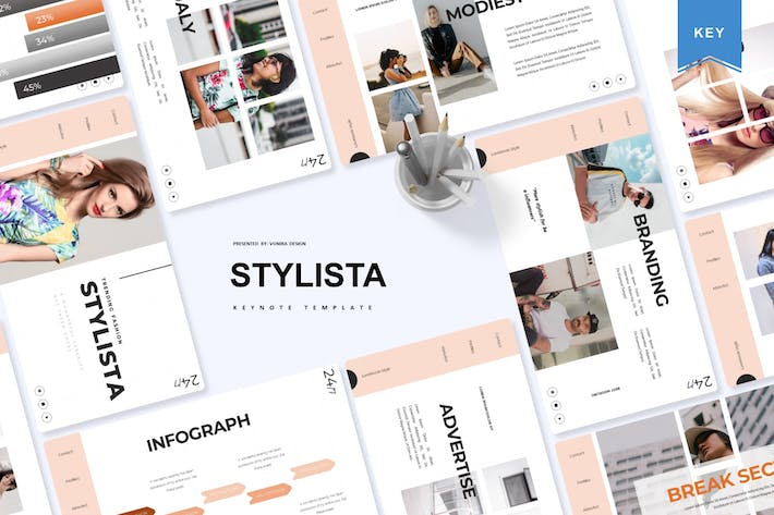 Thumbnail for Stylista   Keynote Template