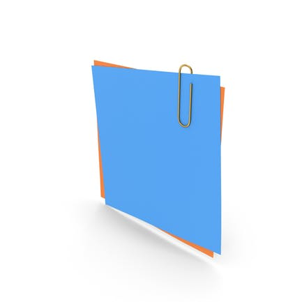 Papers With Paper Clip Blue Orange