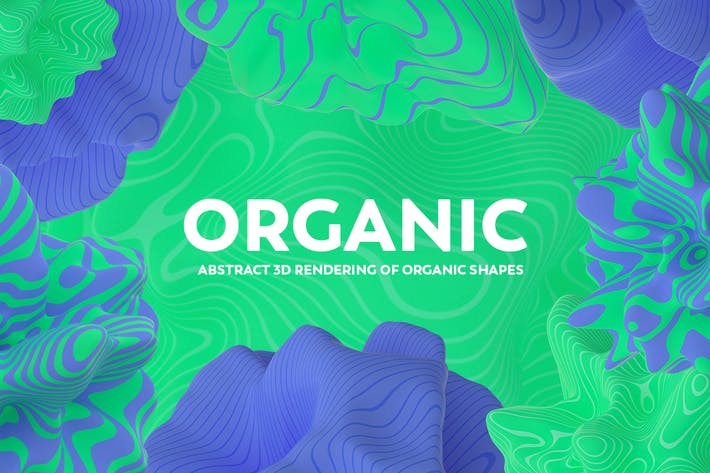 Thumbnail for Abstract 3D Rendering of Organic Shapes
