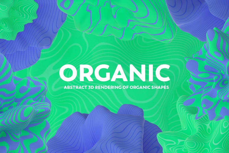Abstract 3D Rendering of Organic Shapes