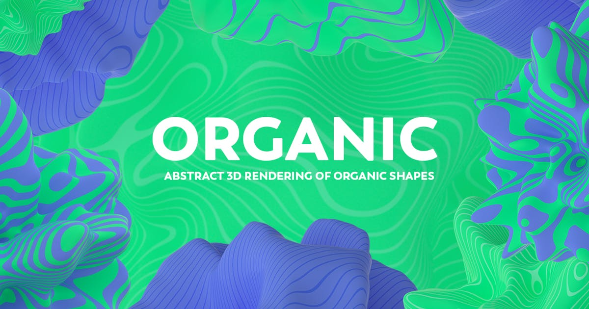 Download Abstract 3D Rendering of Organic Shapes by mamounalbibi