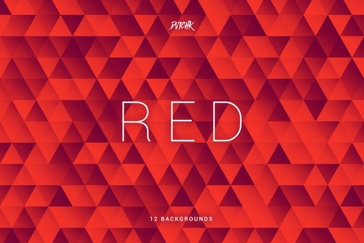 Thumbnail for Red | Abstract Triangles Mosaic Backgrounds