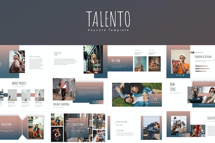 Thumbnail for Talento Keynote Templates