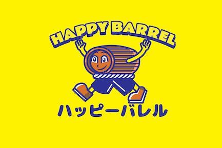 Happy Barrel - Mascot Logo