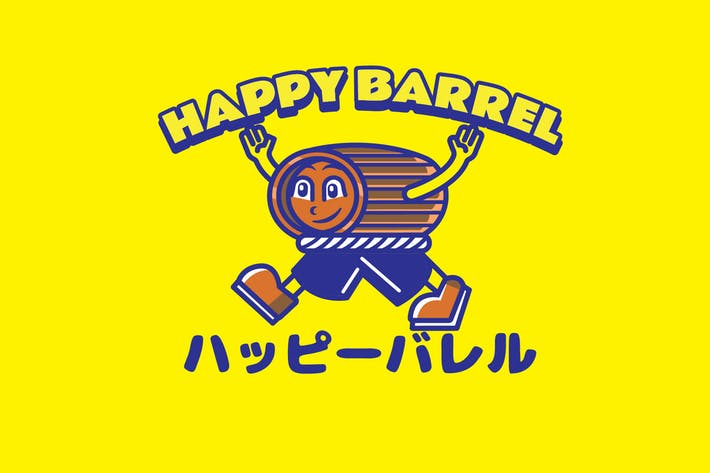 Thumbnail for Happy Barrel - Mascot Logo