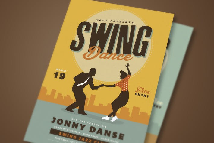 Thumbnail for Retro Swing Dance Party Flyer